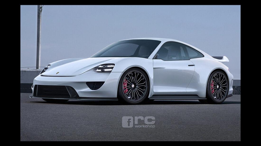 Porsche 911 Mission E - Photoshop