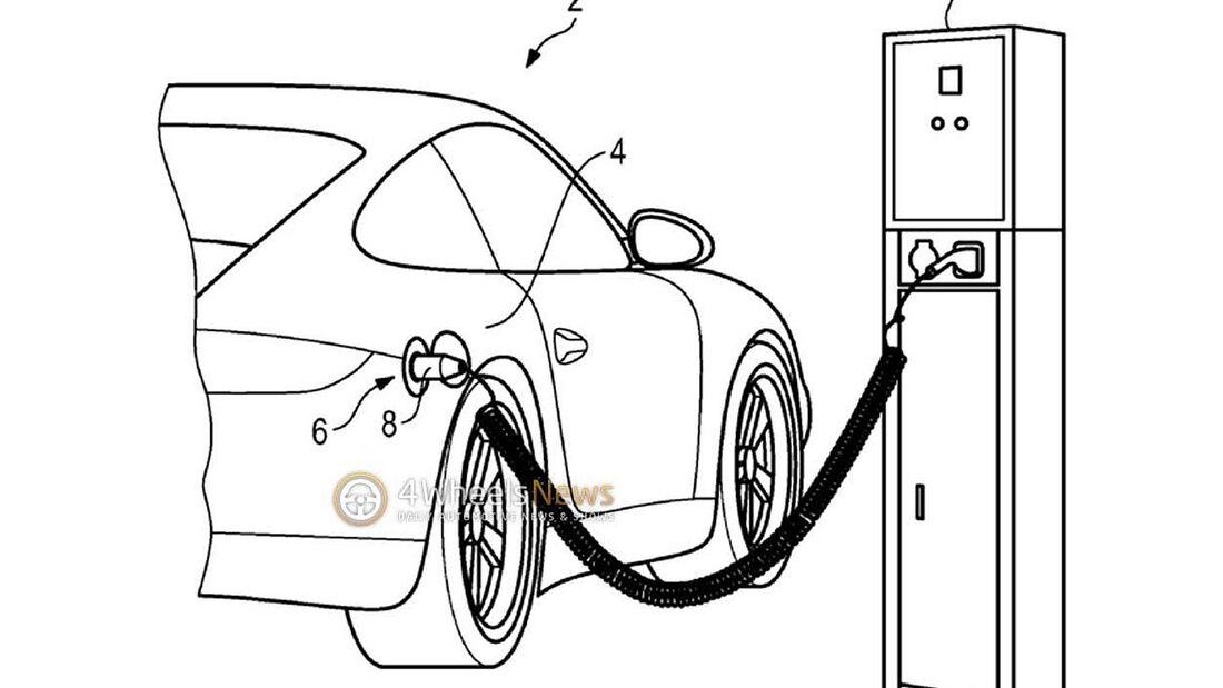 Porsche 911 Plug-in-Hybrid Patentzeichnung