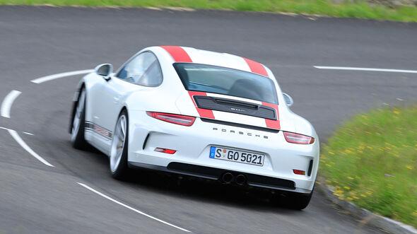 Porsche 911 R, Heckansicht