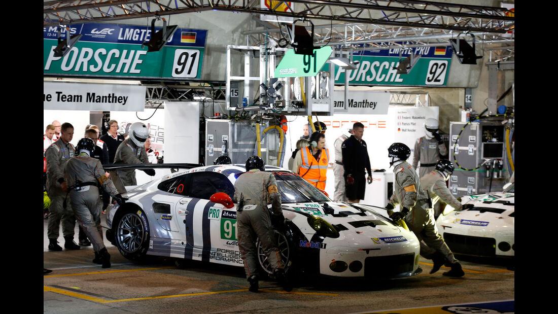 Porsche 911 RS-R - Startnummer #91 - 24h Rennen Le Mans - 1. Qualifying - Mittwoch - 10.6.2015