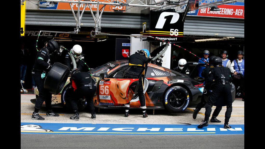 Porsche 911 RSR - Startnummer #56 - 24h-Rennen Le Mans - Samstag - 15.06.2019
