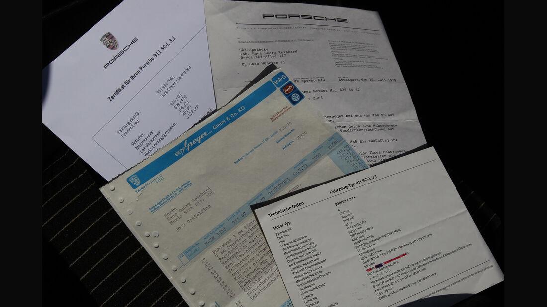 Porsche 911 SC-L 3.1, Papiere