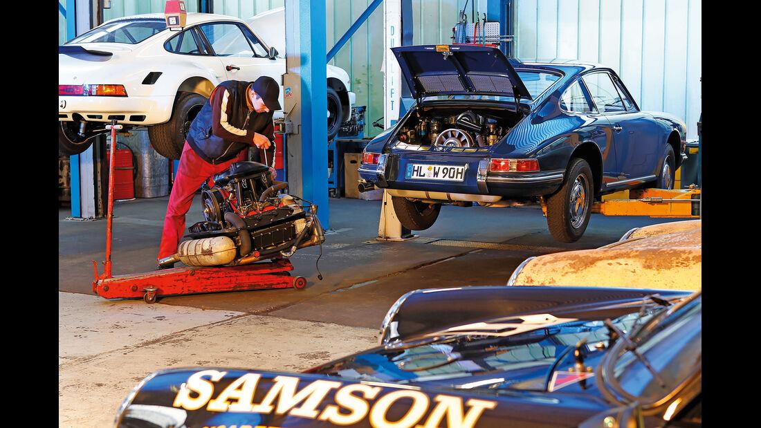 Porsche 911, Service-Station, Werkstatt