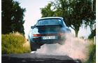 Porsche 911, Sprung, Probefahrt, Heckansicht