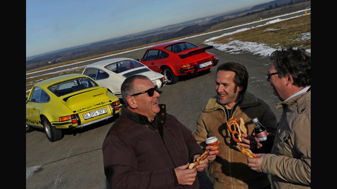 Porsche 911 T 2.0, Porsche Carrera RS 2.7, Porsche Carrera 3.2, Heck