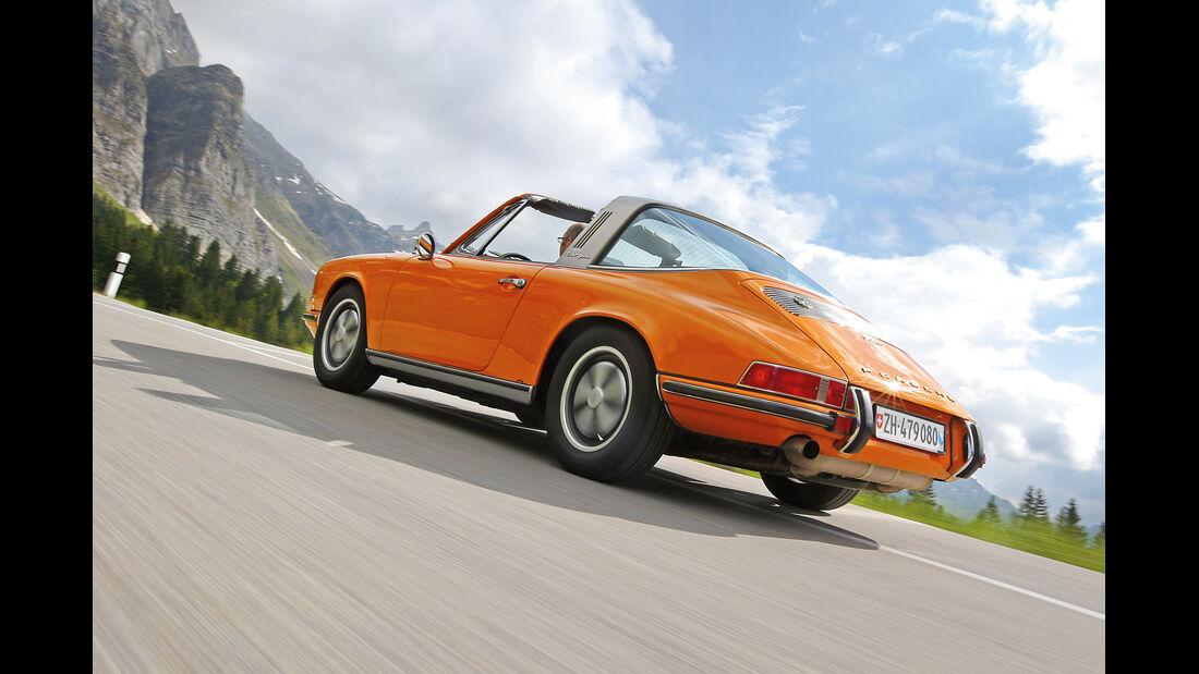 Porsche 911 T 2.2 Targa, Heckansicht