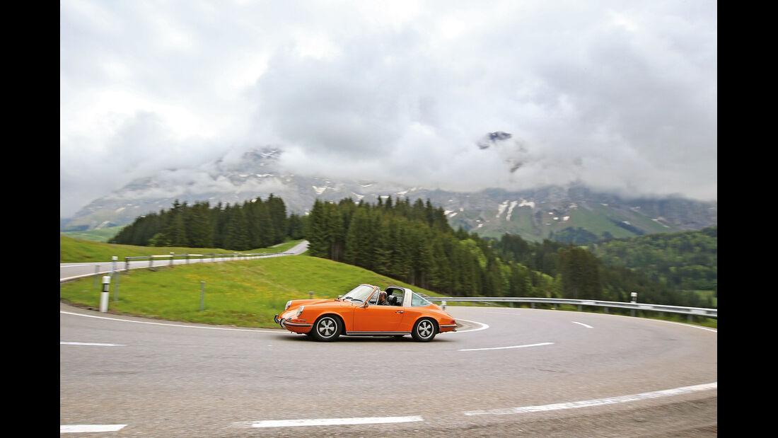 Porsche 911 T 2.2 Targa, Seitenansicht