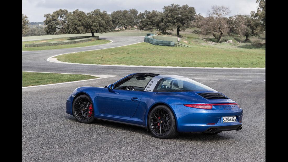 Porsche 911 Targa 4 GTS, Heckansicht