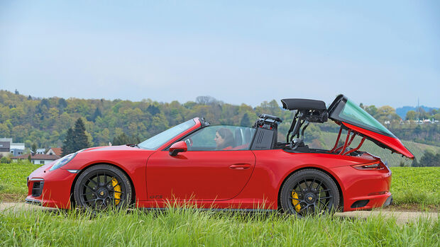 Porsche 911 Targa 4 GTS, Seitenansicht