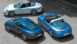 Porsche 911 Targa 4S, Porsche 911 Carrera S Cabrio, Porsche 911 Carrera S Coupé