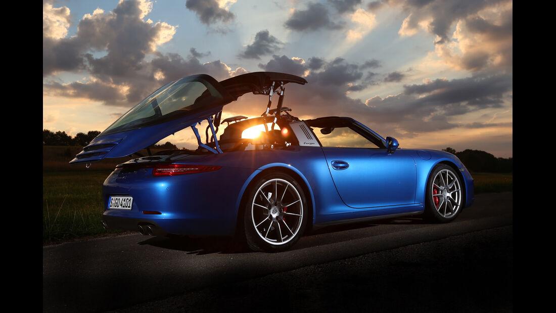 Porsche 911 Targa 4S, Seitenansicht, Abendlicht