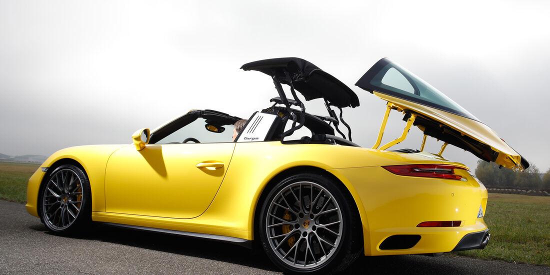 Porsche 911 Targa 4S, Verdeck, Öffnet