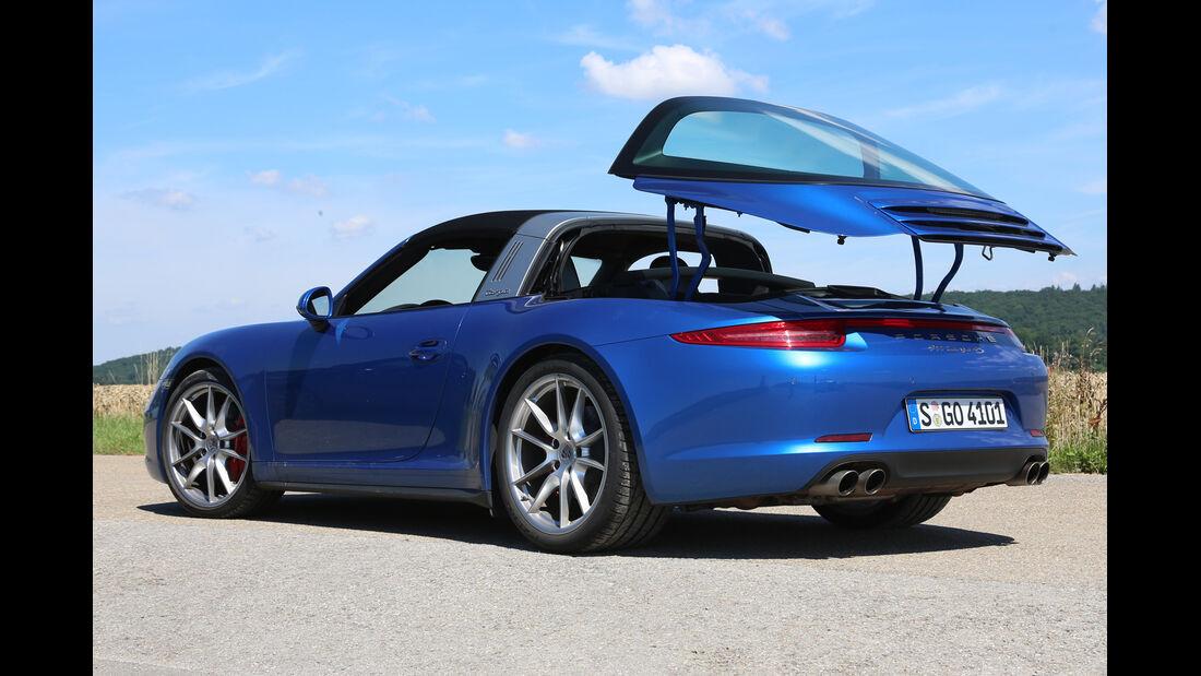 Porsche 911 Targa 4S, Verdeck öffnet