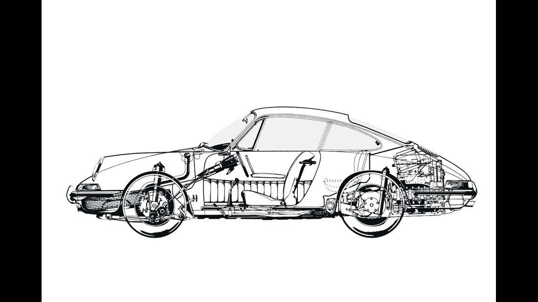 Porsche 911 Targa, F-Modell, Durchsicht