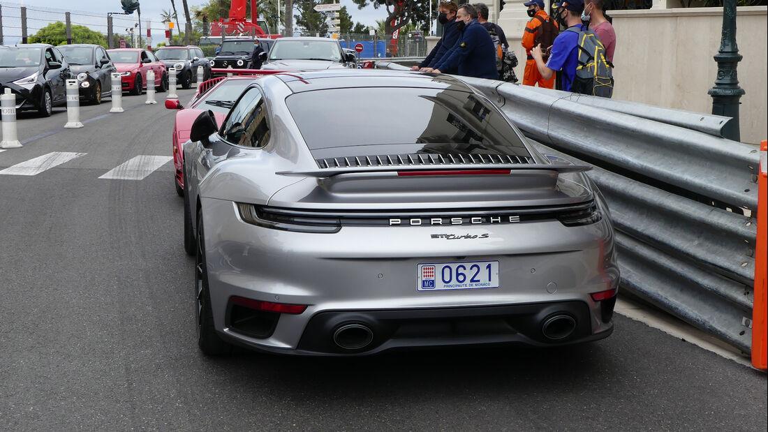 Porsche 911 Tubro S - Luxusautos - Formel 1 - GP Monaco - 21. Mai 2021