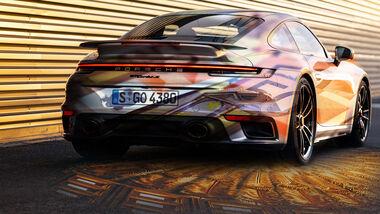 Porsche 911 Turbo Gold Gewinn Collage