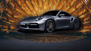 Porsche 911 Turbo Gold Gewinn Collage