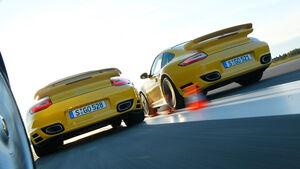 Porsche 911 Turbo, Porsche 911 Turbo S, Heck
