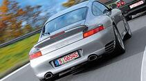 Porsche 911 Turbo S (996), Heckansicht