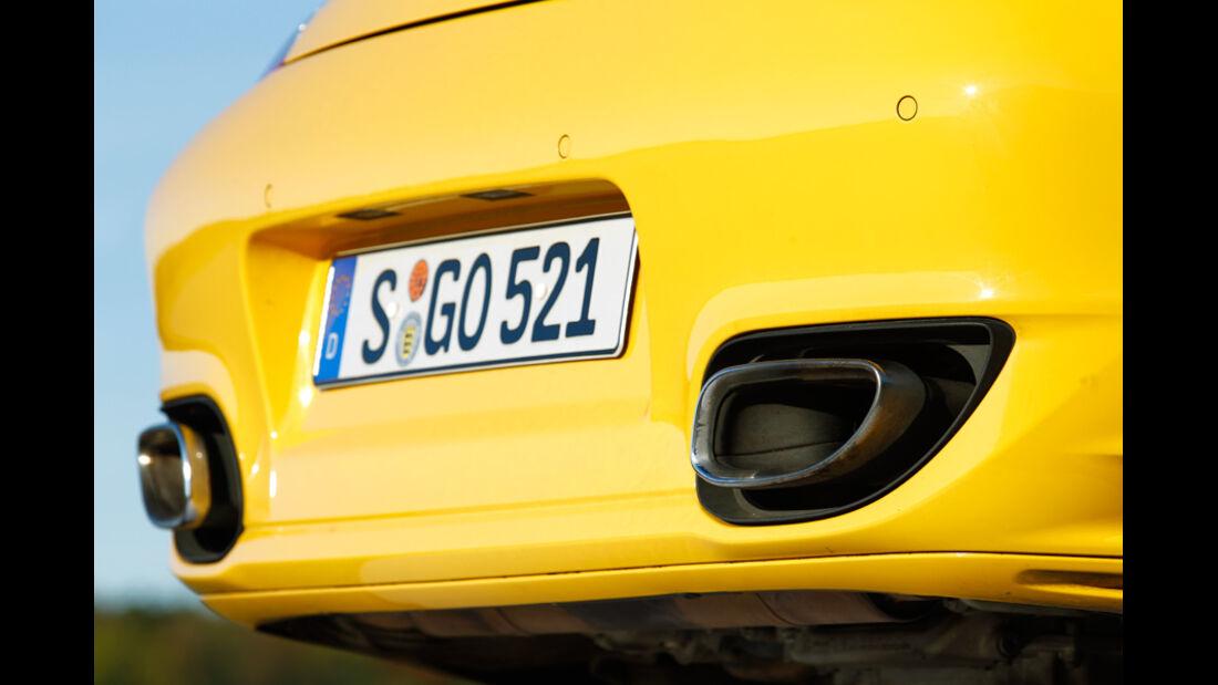 Porsche 911 Turbo S, Auspuff