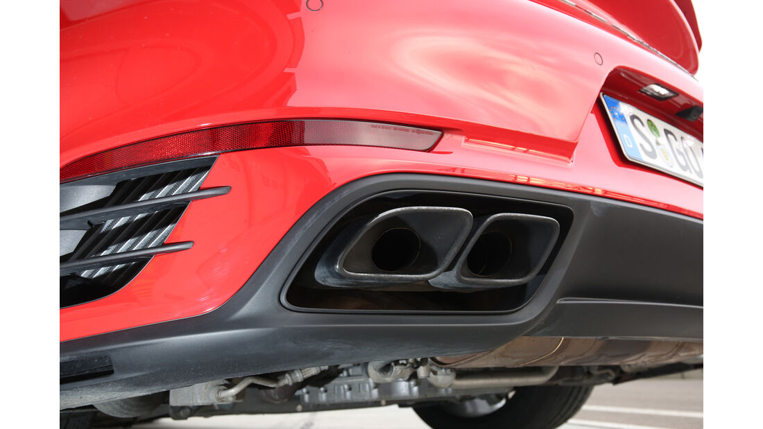 Porsche 911 Turbo S, Auspuff, Endrohre