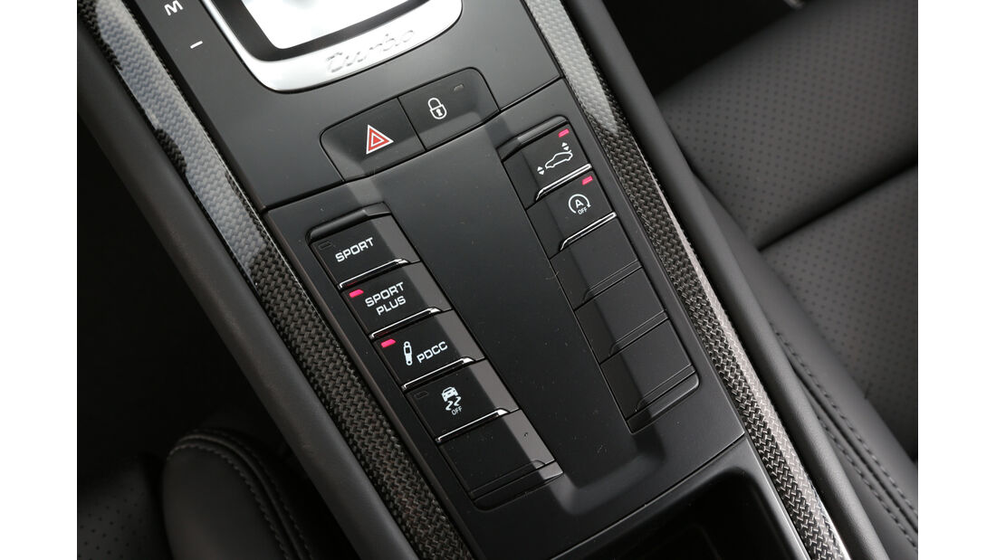 Porsche 911 Turbo S, Bedienelemente