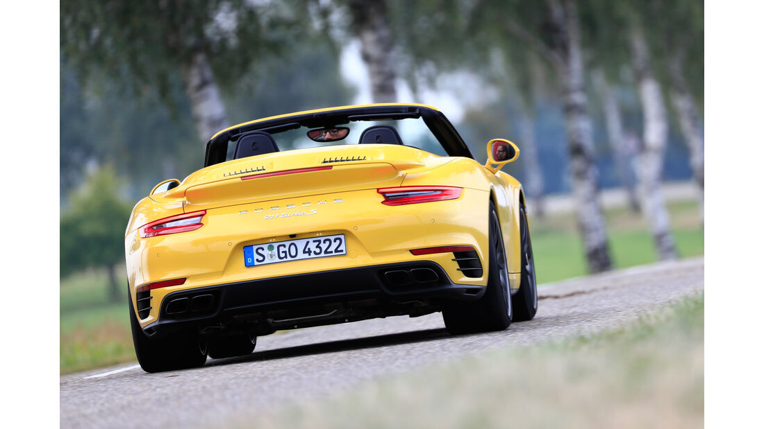 Porsche 911 Turbo S Cabriolet, Heckansicht