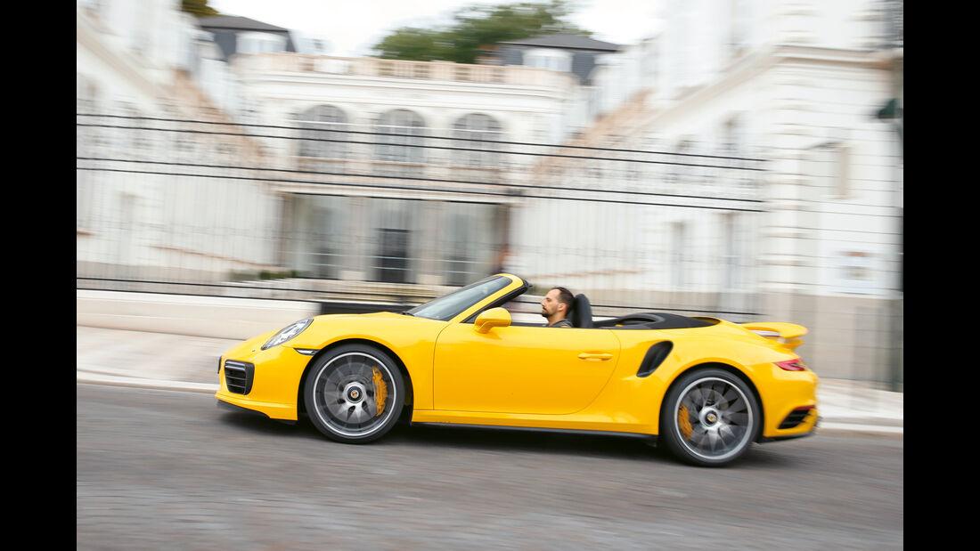 Porsche 911 Turbo S Cabriolet, Seitenansicht