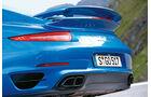 Porsche 911 Turbo S, Heck, Auspuff