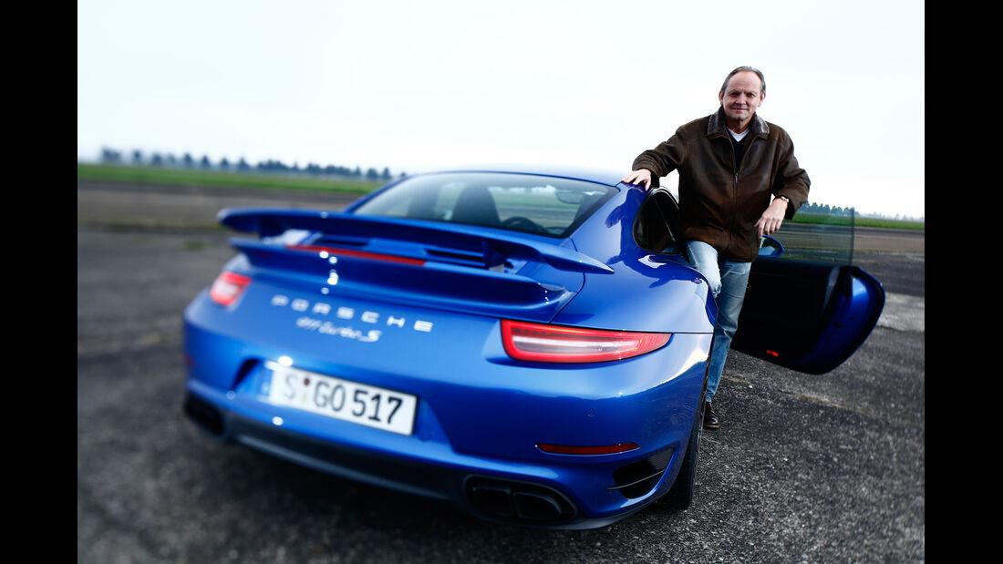 Porsche 911 Turbo S, Heckansicht, Horst von Saurma