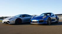 Porsche 911 Turbo S, Lamborghini Gallardo LP 570-4 Squadra Corse, Seitenansicht