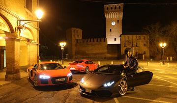 Porsche 911 Turbo S, Lamborghini Huracán LP 610-4, Audi R8 V10 Plus