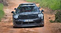 Porsche 911 Turbo, Sandpiste, Frontansicht