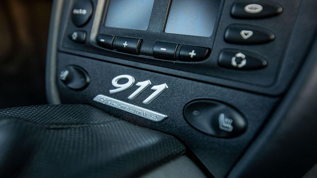 Porsche 911, Typ 996 (1997-2004), Innenraum, Detail, Mittelkonsole
