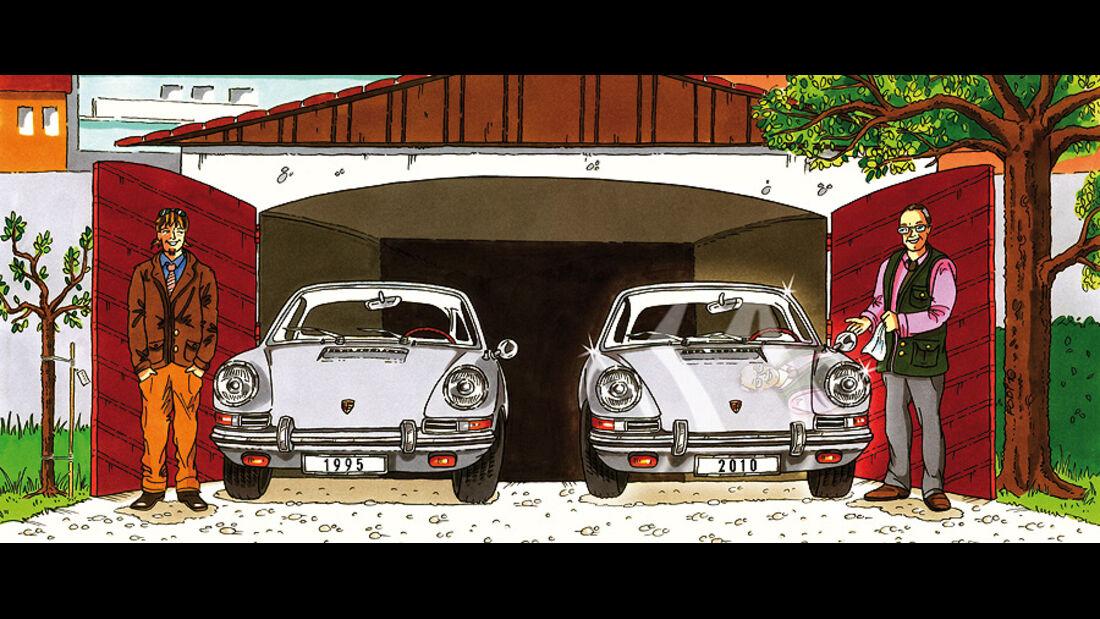 Porsche 911 - Zeichnung