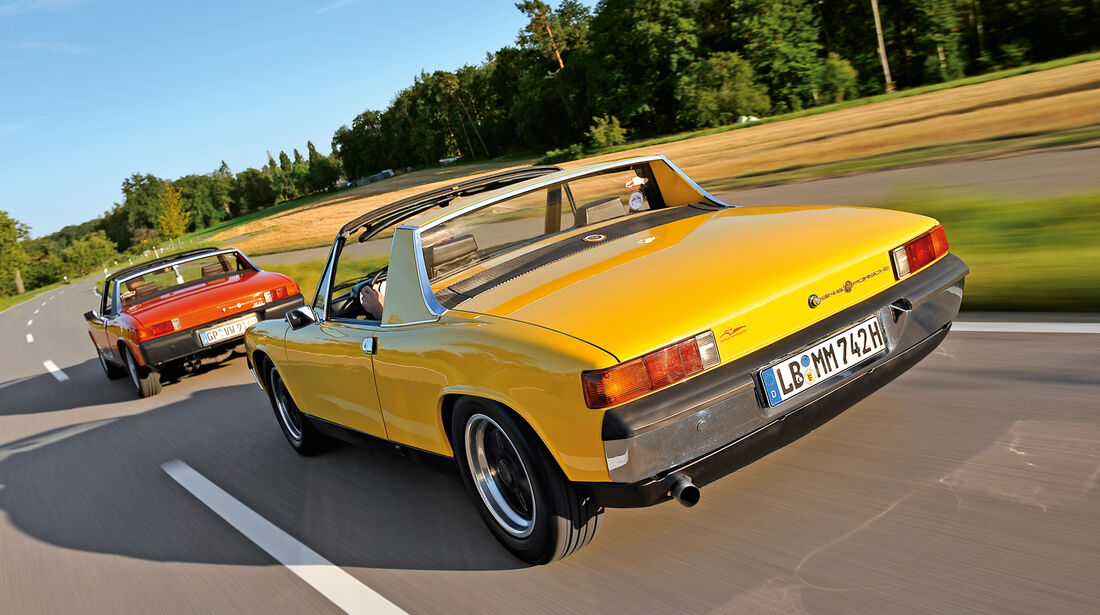 Porsche 914/4 und 914/6, Heckansicht