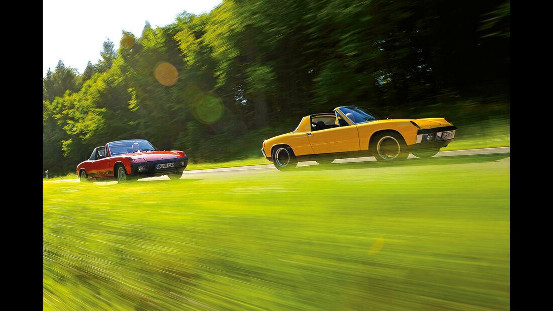 Porsche 914/4 und 914/6, Seitenansicht