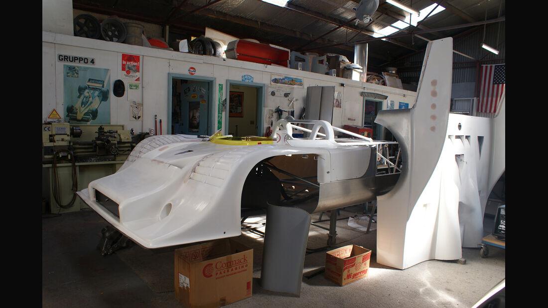 Porsche 917-Nachbau, Werkstatt