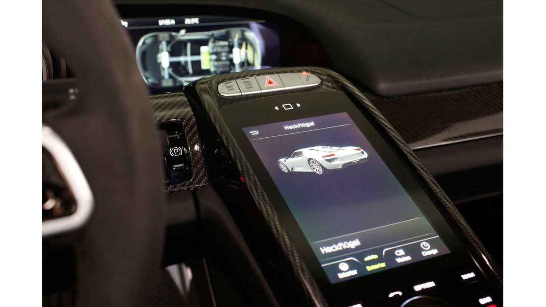 Porsche 918 Spyder, Bedienelement, Touchscreen