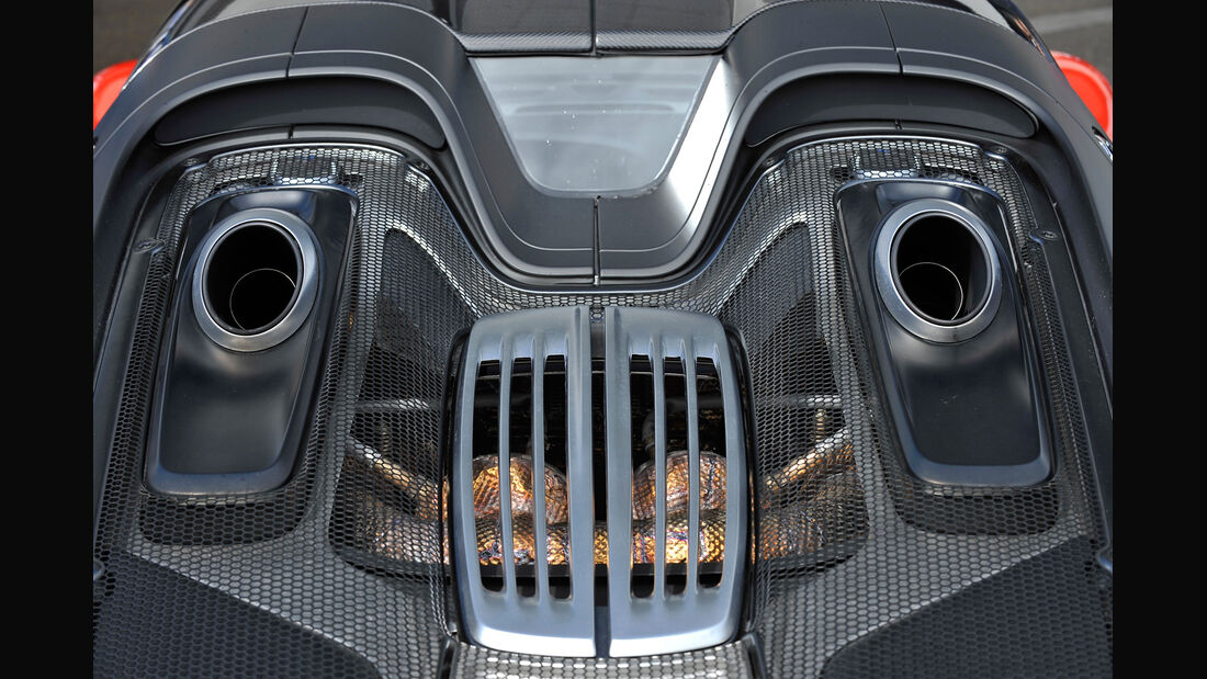Porsche 918 Spyder, Endrohre, Top-Pipes