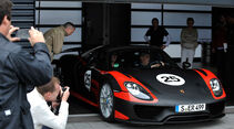 Porsche 918 Spyder, Frontansicht, Box