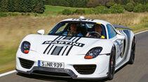 Porsche 918 Spyder, Frontansicht, Walter Röhrl
