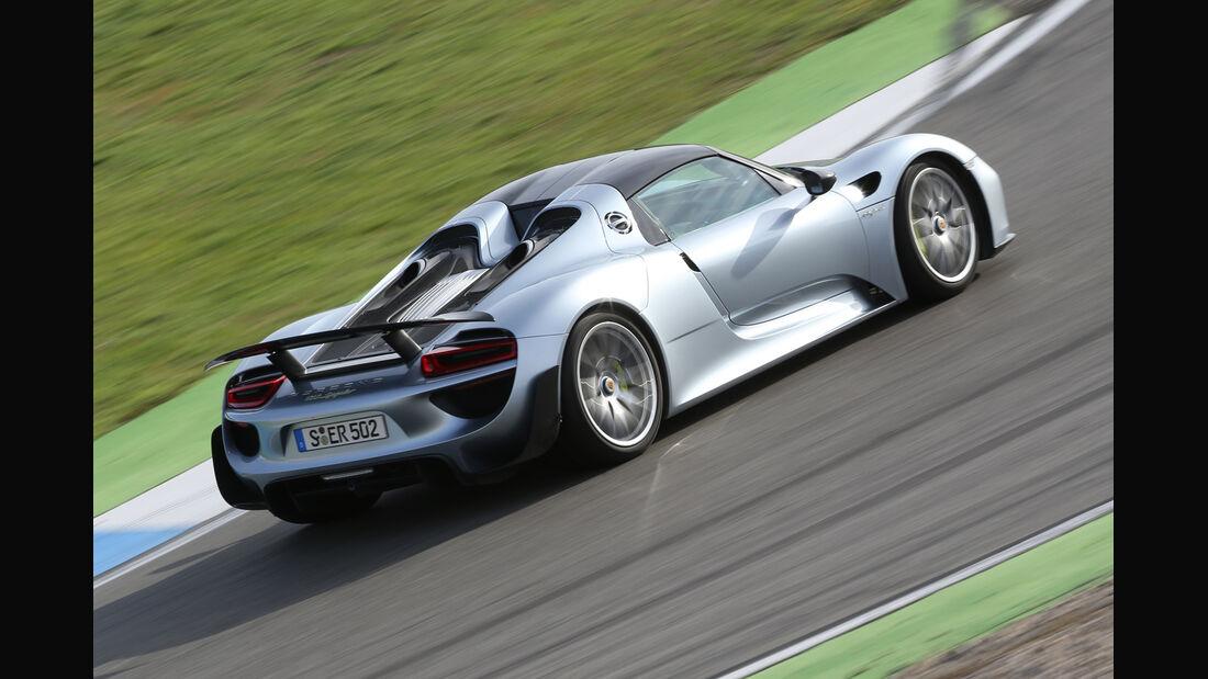 Porsche 918 Spyder, Heckansicht