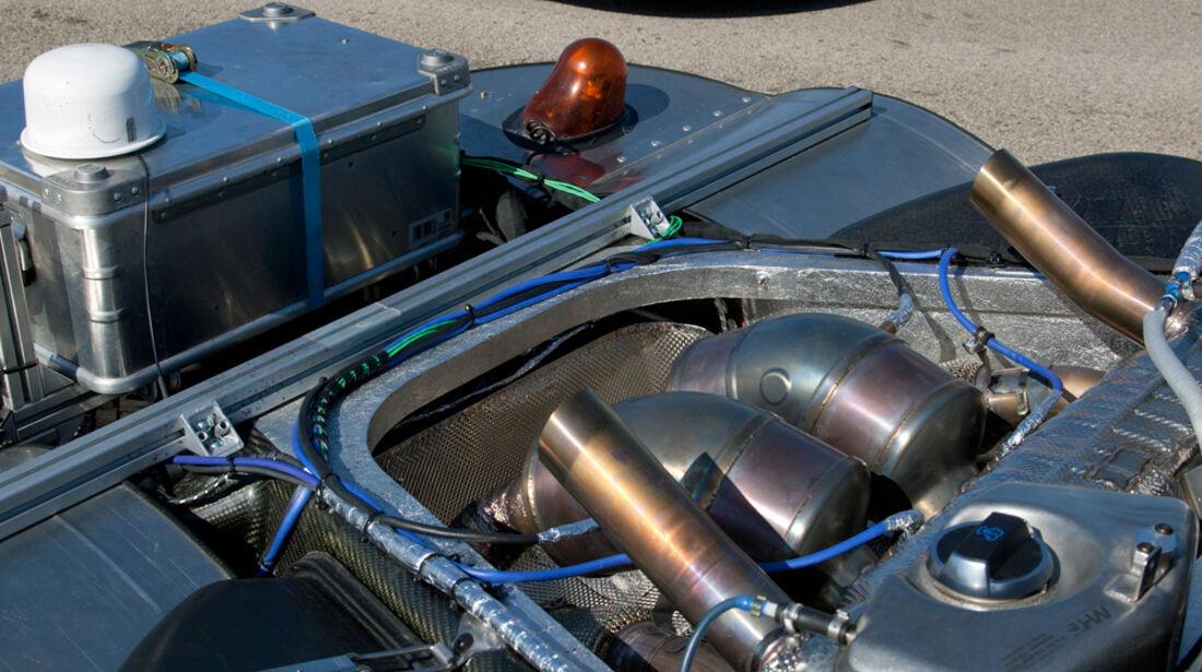 Porsche 918 Spyder, Motor, Seitenansicht