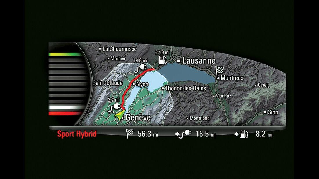 Porsche 918 Spyder Navigationskarte