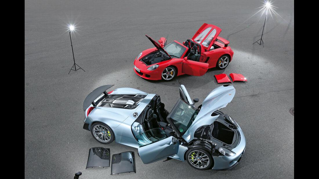 Porsche 918 Spyder, Porsche Carrera GT, Türen offen