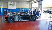 Porsche 918 Spyder, Seitenansicht, Werkstett
