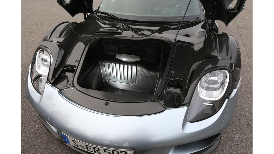 Porsche 918 Spyder, Stauraum, Kofferraum