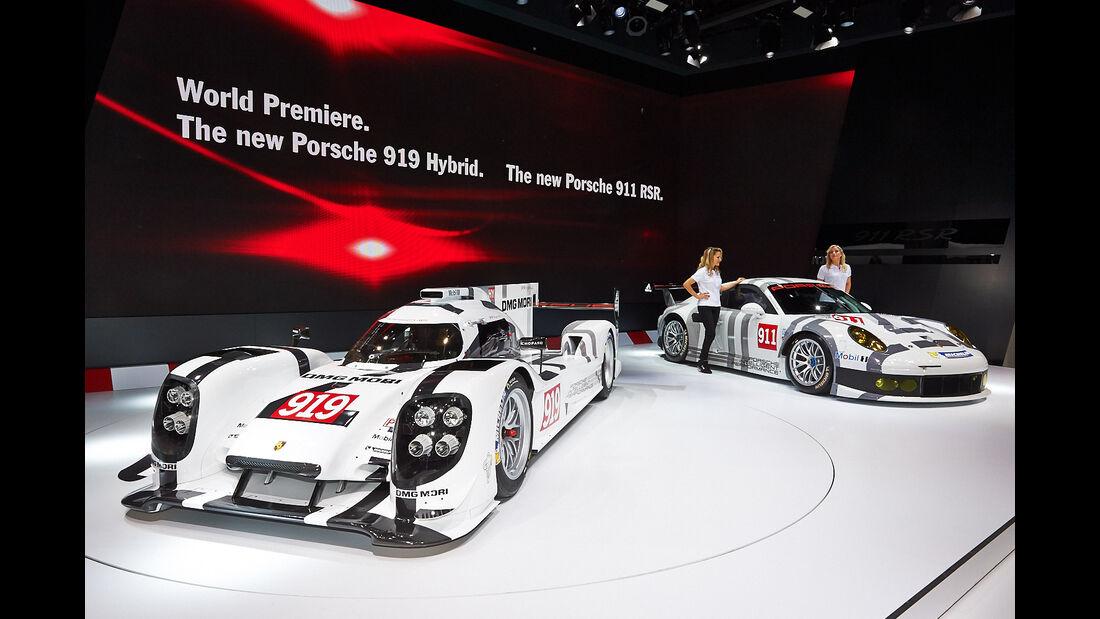 Porsche 919 Hybrid, Porsche 911 RSR, Rennwagen, Genfer Autosalon, Messe, 2014