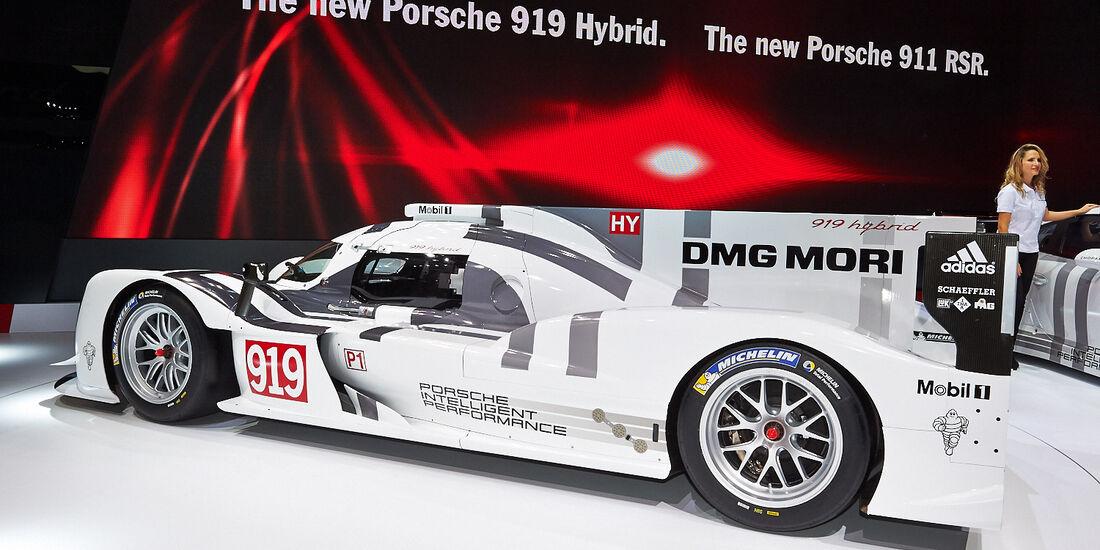 Porsche 919 Hybrid Rennwagen, Genfer Autosalon, Messe, 2014